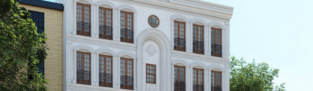 white classic facade