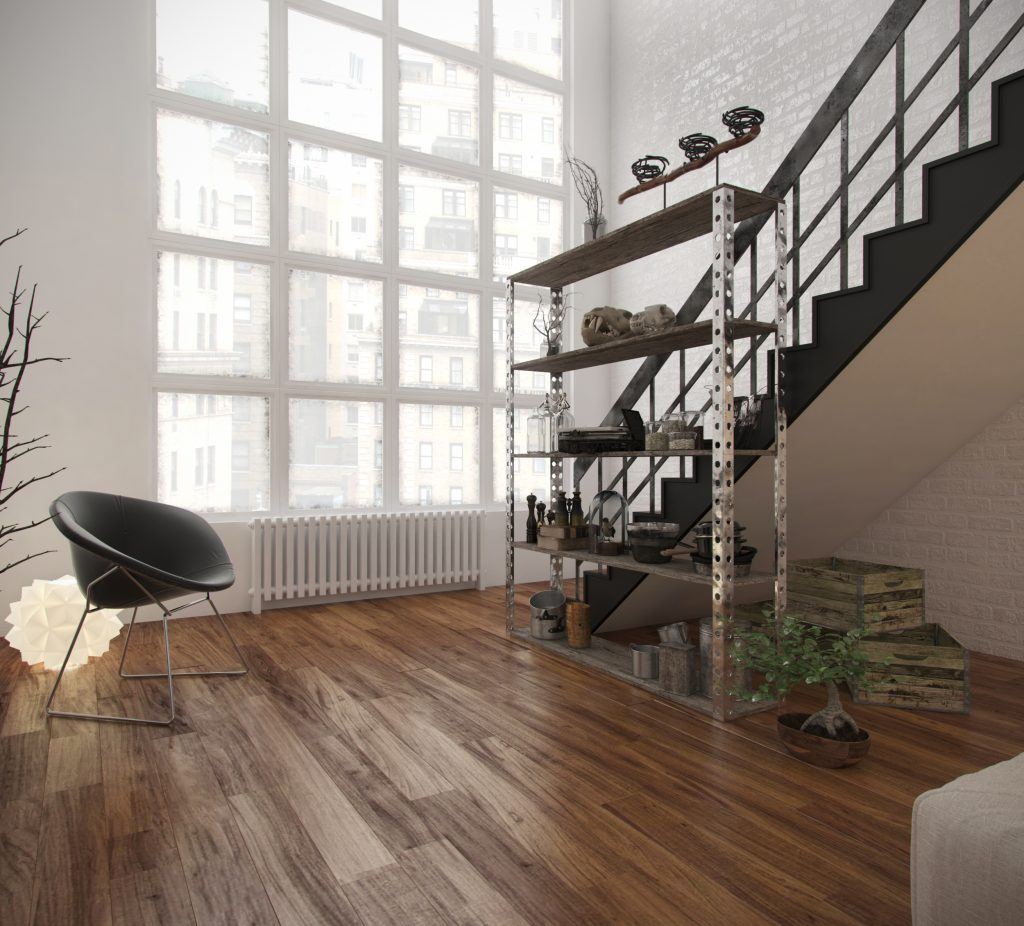 3d render of interior room