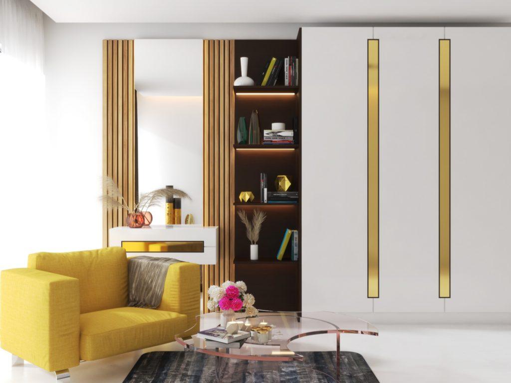 3d render of white room