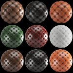 9 PBR Leather material (4k)