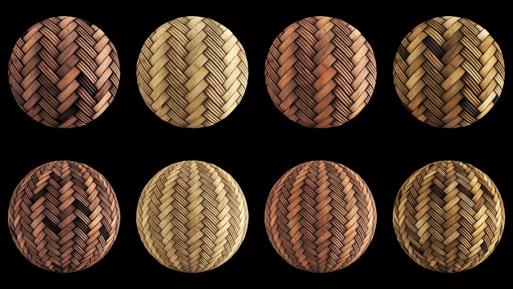 rattan and wicker pbr material