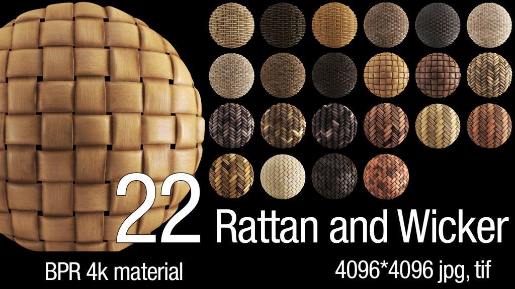 22 BPR Rattan & Wicker 4K Material