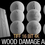 wood damage alpha brush bundle