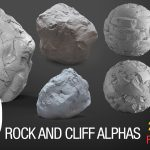 easy sculpting rock and cliff alphas bundl