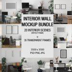 wall frame mockup bundles