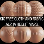 Six Free Cloth & Fabric Alpha Maps