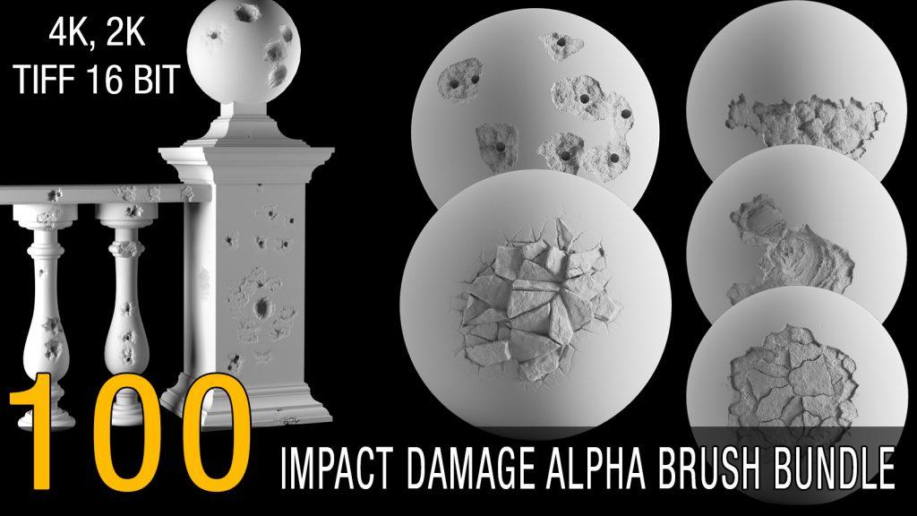 impact damage alpha brush bundle