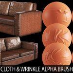 cloth and wrinkle alpha brush bundle (sofa and furniture)
