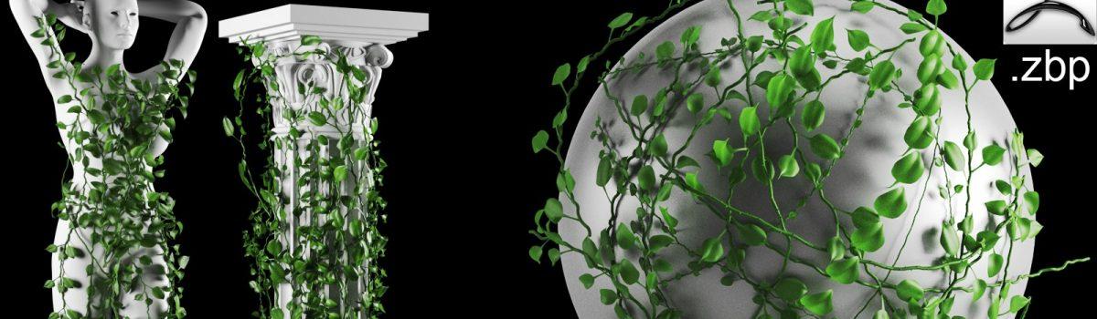 ivy and leaf zbrush imm brush