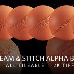 seam and stitch alpha brush bundle vol2