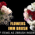 Flowers IMM brush + free video tutorial